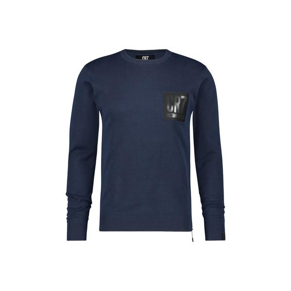SLIM FIT CLASSIC CREW NECK PULLOVER IN NAVY